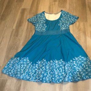 Eshakti Turquoise Aurora Dress